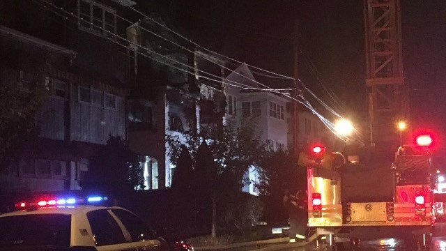 Hartford firefighters battled a 2-alarm fire early Monday morning on Irving Street (WFSB).