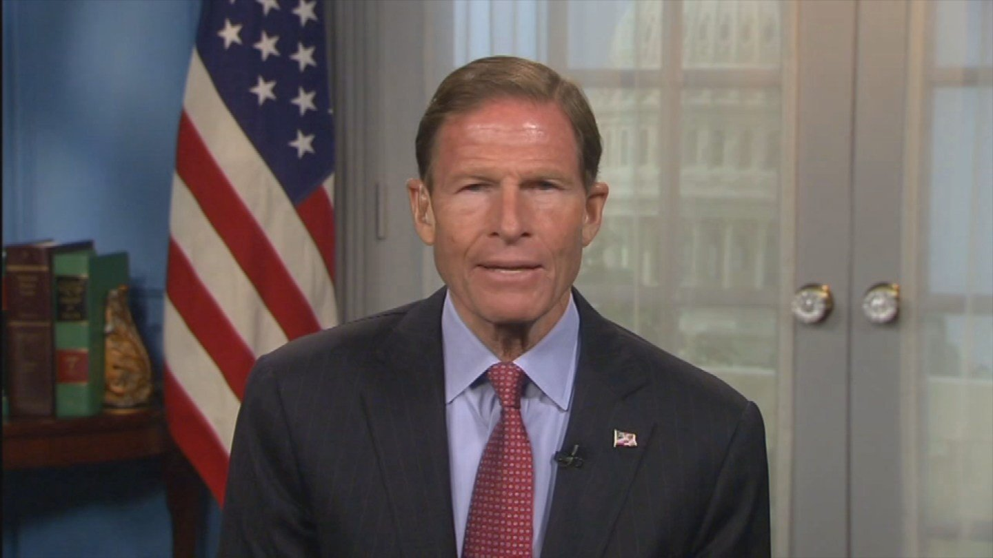 Sen. Richard Blumenthal asked President Donald Trump to lead the fight to stop mass shootings. (WFSB)