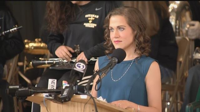 Erin Berthold was named Connecticut teacher of the year. (WFSB)
