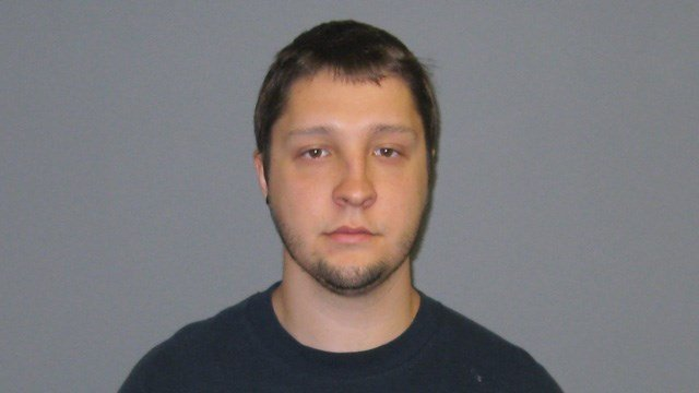 Justin Andrew Leake was arrested for firing a gun after an argument with a tree service worker in Oxford. (State police)