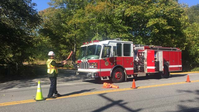 A fire was reported at a building on the old Norwich Hospital property on Wednesday morning (WFSB)