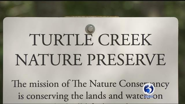 Dogs are no longer welcome at the Turtle Creek nature preserve that spans a property in Old Saybrook and Essex. (WFSB)