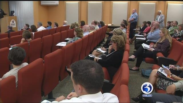 Health directors from around Connecticut met on Thursday to combat opioid crisis. (WFSB)