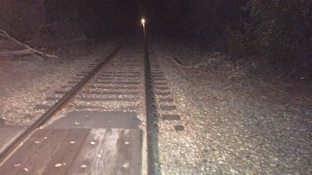 Police are investigating after a person was hit by a train in Danielson on Thursday evening. (WFSB)