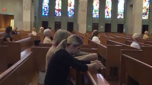 A prayer vigil was held in Hartford on Friday afternoon. (WFSB)