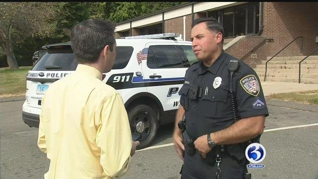 Watertown Officer Rey Torres is hoping to head to Puerto Rico soon. (WFSB)