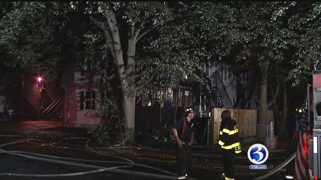 Multiple people were sent to the hospital after a fire an apartment complex in New Haven on Sunday morning.(WFSB)