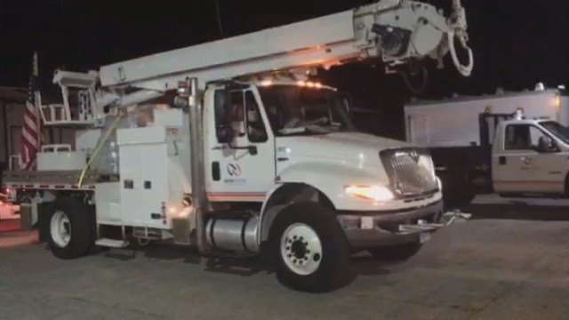 Groton Utilities went  St. Thomas on Sunday to help restore power for those affected by Hurricane Maria.(Groton Utilities)