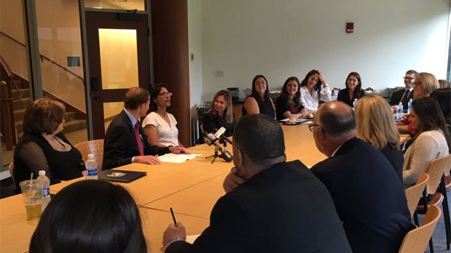 A round table discussion was held on how to prevent human trafficking. Lawmakers heard from a survivor and how Quinnipiac law students are helping with the cause. (WFSB)