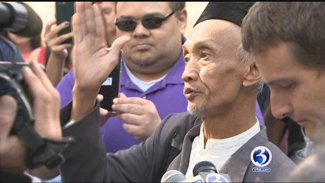 Sujitno Sajuti attended a rally in his defense on Oct. 5. (WFSB file)