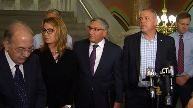 Republican and Democrat leaders met again on Tuesday to discuss the state budget. (WFSB)