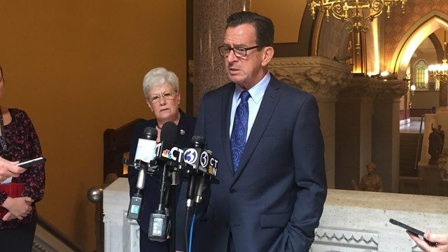 Gov. Dannel Malloy previously discussing the latest round of budget talks. (WFSB)
