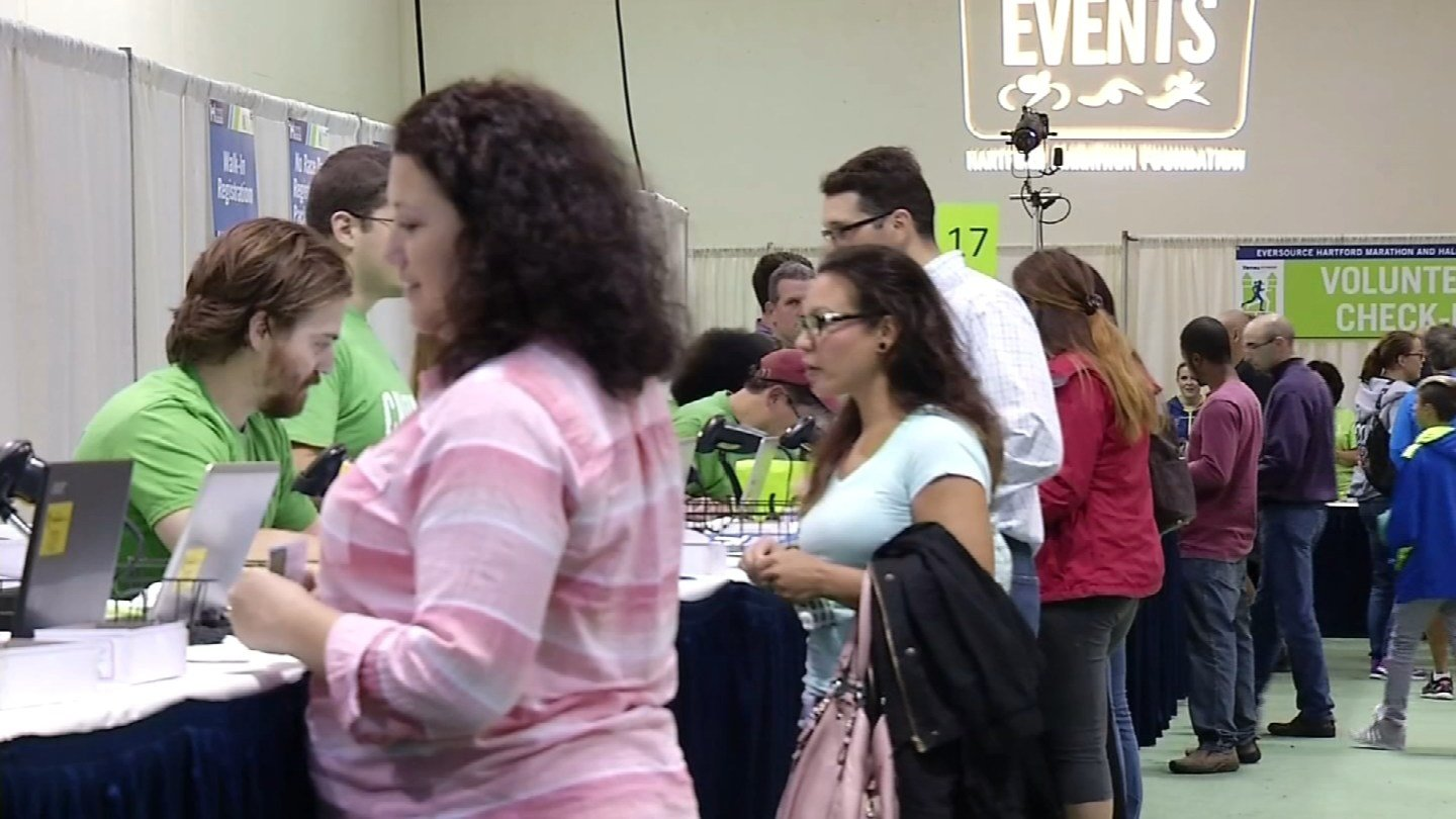 The Eversource Hartford Marathon Expo. (WFSB file)