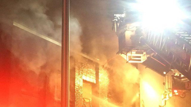 Hartford firefighter fought a fire at a vacant building on Homestead Avenue early Friday morning. (Hartford Fire Dept.)