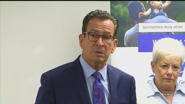Gov. Dannel Malloy said he expects in influx of people from Puerto Rico as flights from Bradley airport to San Juan resumed on Friday. (WFSB)