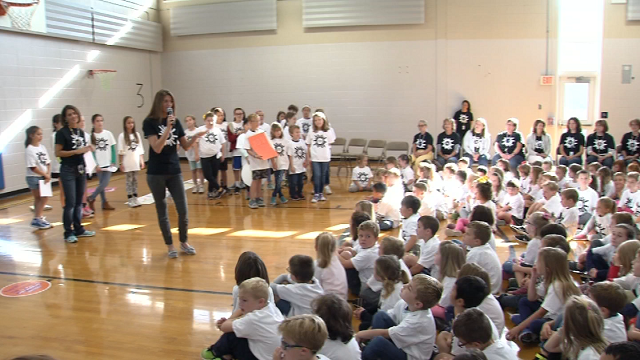 "The students at Shoreline Elementary School in Old Lyme are learning to practice gratitude on Friday morning, by asking, ""what are you grateful for?"" (WFSB)"