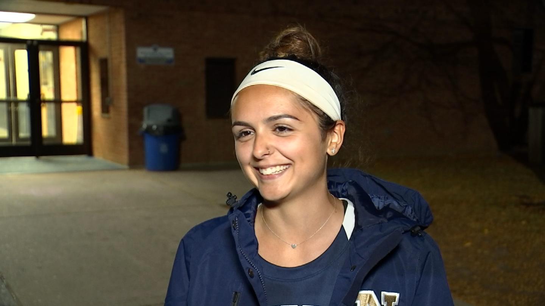 Newington High School junior, and field hockey team member, Amber Miller (WFSB)