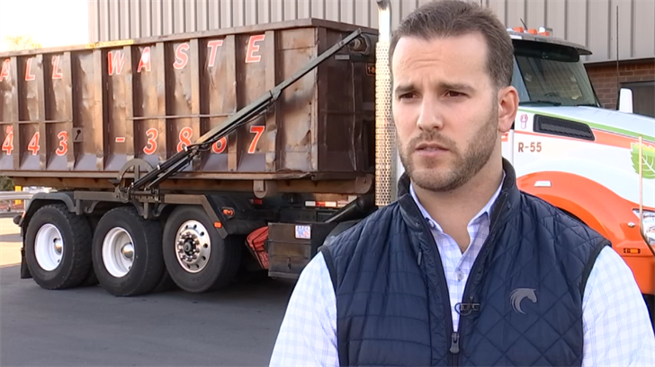 """Manager of """"All Waste"""" in Hartford, Russell Lallier  (WFSB)"""