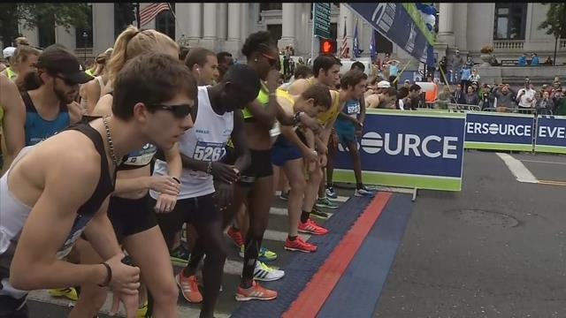 Runners laced up for the Hartford marathon on Saturday (WFSB)