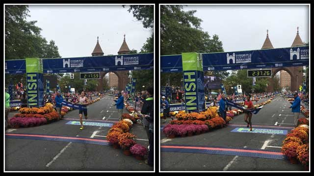 Chris Zablocki and Meseret Dekebo win the Eversource Hartford Marathon and the women's race respectively on Saturday (WFSB)