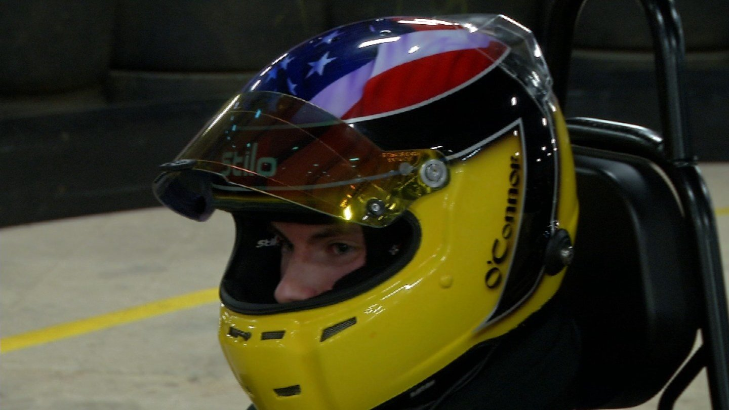 Tyler O'Connor is making a name for himself in the racing world. (WFSB)