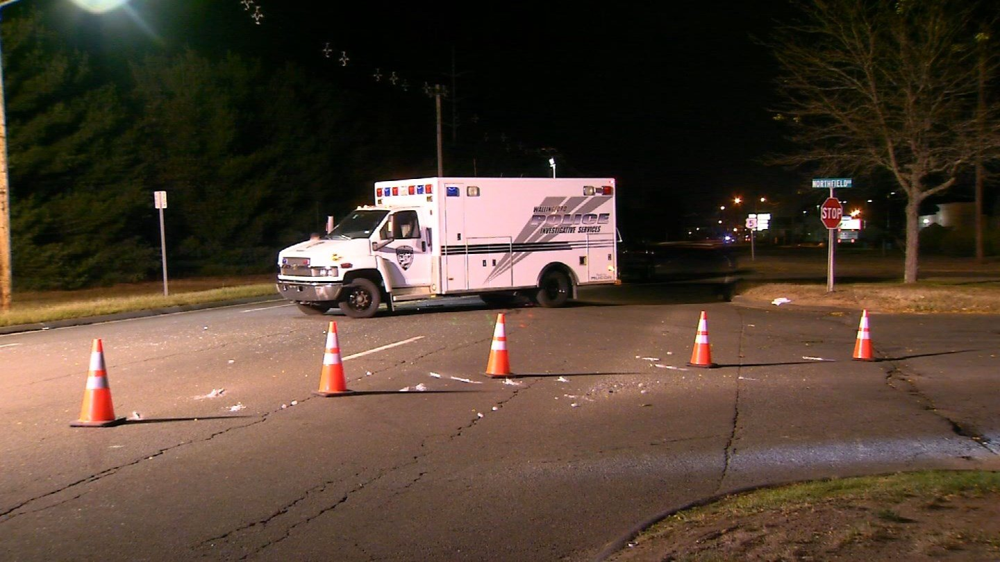 A man from Darien was killed in a Sunday night crash on Route 5 in Wallingford. (WFSB)