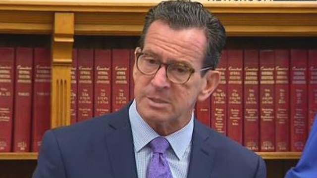 Gov. Dannel Malloy discusses his fourth full budget proposal on Monday. (WFSB)