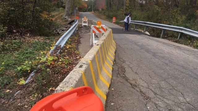 There are concerns over a potentially crumbling bridge in Coventry (WFSB)