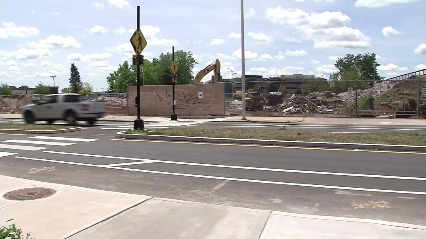 Columbus Boulevard in New Britain will become Columbus Commons as part of a revitalization project. (WFSB file)