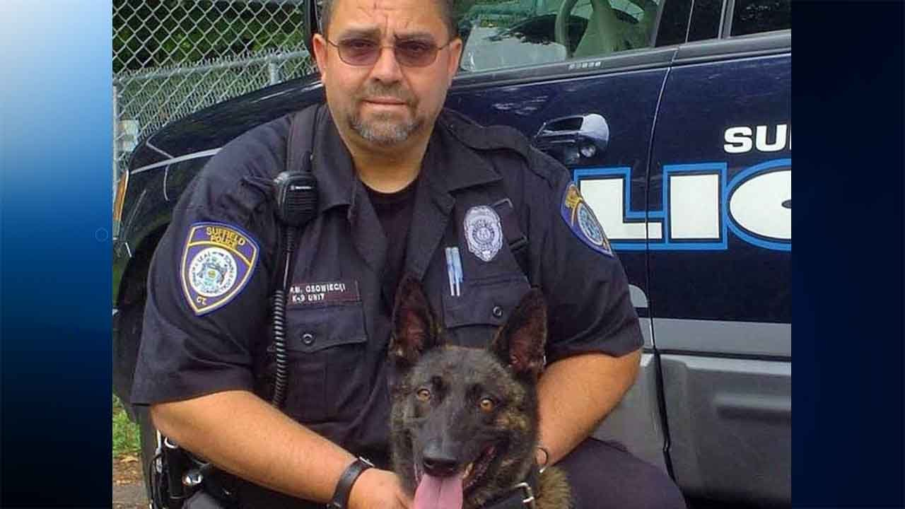 K9 Officer Peter Osowiecki and Z. (Suffield police)