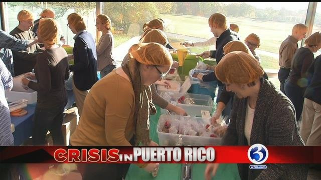 VIDEO: Cigna employees package thousands of meals for Puerto Rico