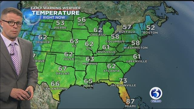 Chilly temps warm into the 50s for many towns