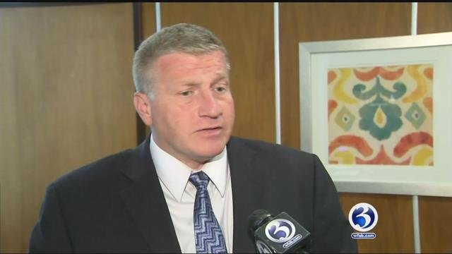 Bristol Mayor Ken Cockayne during a previous interview with Channel 3 (WFSB)