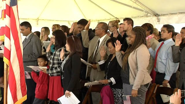 50 new U.S. citizens took the oath of allegiance on Tuesday (WFSB)