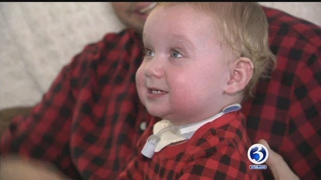 Seth Plourde is a bouncing baby boy but he's had some medical issues since he was born (WFSB)