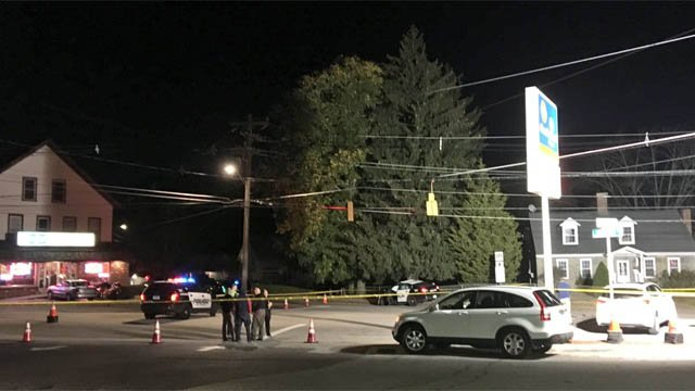 A Willimantic police cruiser was involved in a crash on Tuesday (WFSB)