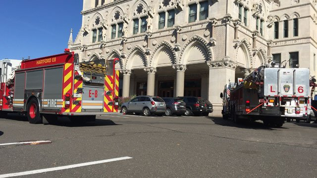State Capitol in Hartford was evacuated after a fire alarm on Thursday morning. (WFSB)