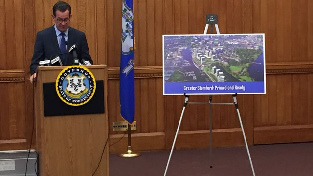 Gov. Dannel Malloy outlined pitches in October to lure Amazon to one of several Connecticut cities. (WFSB)