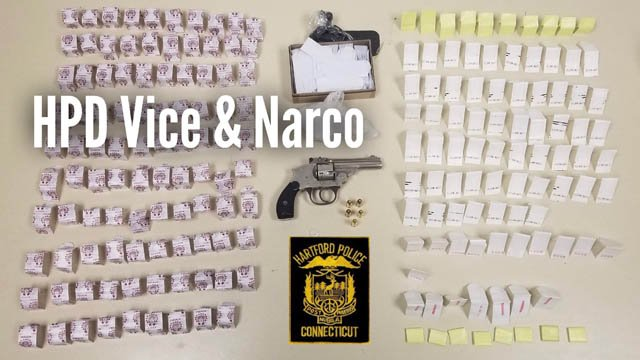 Nine suspects were arrested, several of whom had drugs in their possession, according to police. (Hartford police)