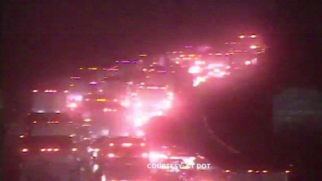 A crash caused delays on I-91 south in Cromwell on Monday morning. (DOT)