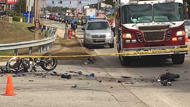 A deadly motorcycle crash was reported on Route 82 in Norwich. (WFSB)