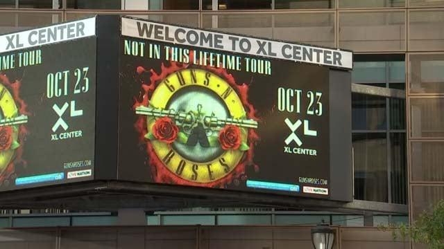 Guns N' Roses concert held at XL Center Monday night (WFSB)