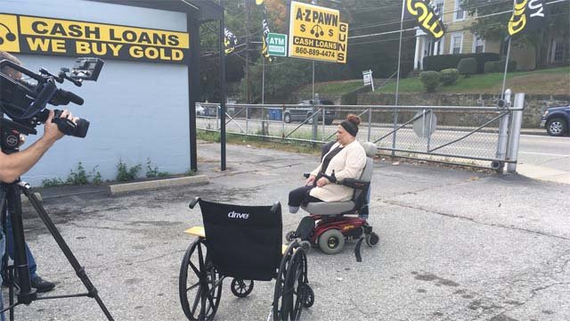 Ana received the gift of mobility on Monday (WFSB)