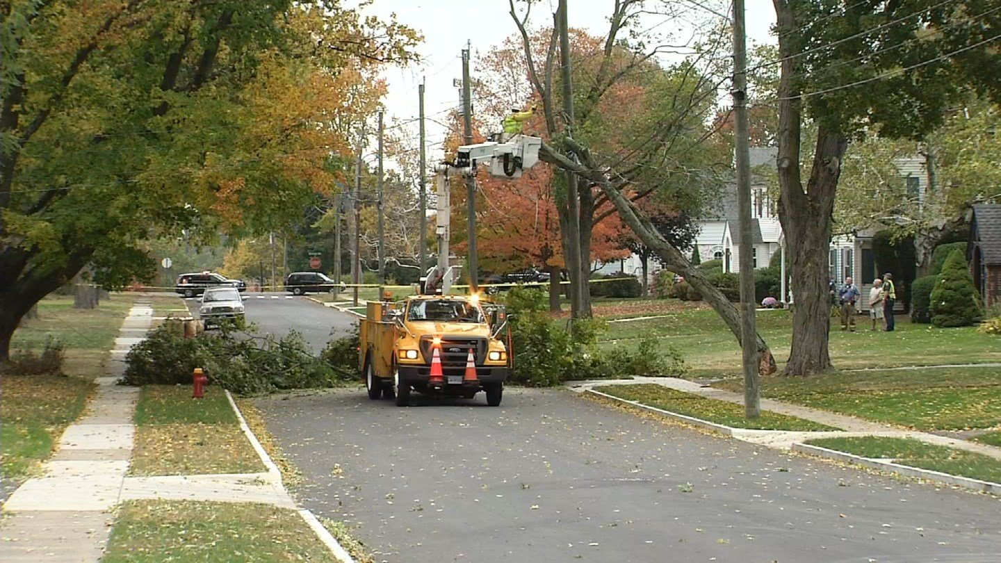 Damage was reported on Rumford Street in West Hartford. (WFSB)