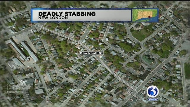 One person was dead after a stabbing in New London on Tuesday night. (WFSB)