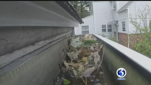 Rain storms caused clogged gutters for some (WFSB)