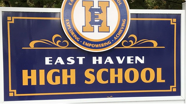 Students, teachers and staff were evacuated at East Haven High School on Thursday morning. (WFSB)