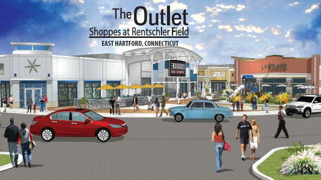 There will be about 70 leading fashion and lifestyle retailers at the Outlet Shoppes at Rentschler Field. (Horizon Group Properties, Inc.)