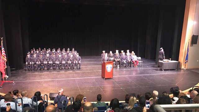 The Hartford Fire Department welcomed 36 new recruits.(WFSB)