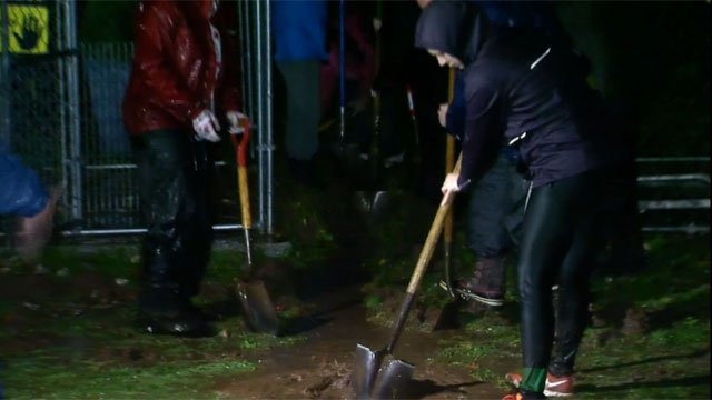 The storm led to flooding at the Meriden Humane Society. (WFSB)